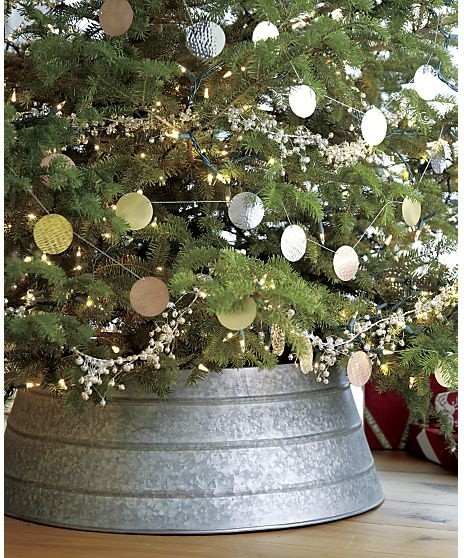Galvanized Tree Collar rustic-christmas-tree-skirts