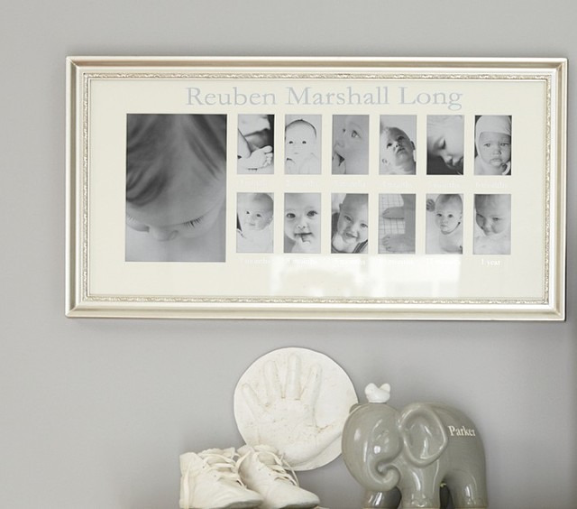 Silver Leaf First Year Frame contemporary nursery decor
