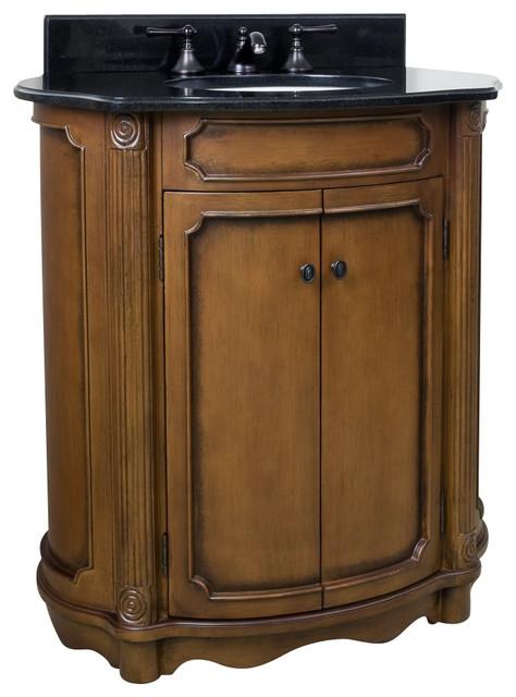30 1 2 Wide MDF Elliptical Vanity VAN025 T Bathroom Vanities And Sink