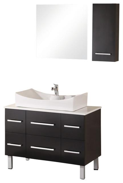 "Design Element Paris 36"" Espresso Modern Single Vessel Sink Vanity Set modern-bathroom-vanities-and-sink-consoles"