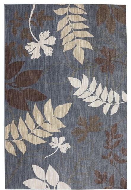 "Dryden July Tendrils Slate Modern 9'6"" x 12'11"" American Rug Craftsmen (9335) contemporary-rugs"