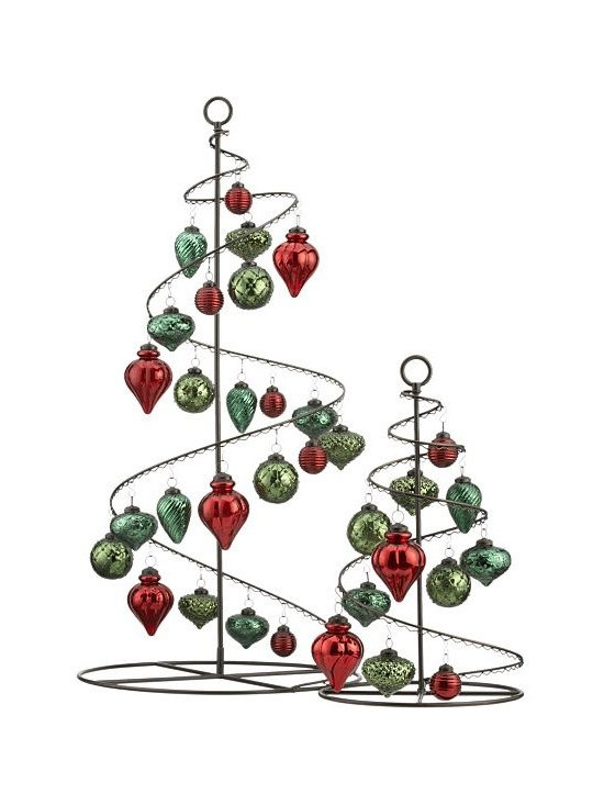 """Bronze Swirl 36"""" Ornament Tree in Christmas Decorating   Crate and Barrel -"""