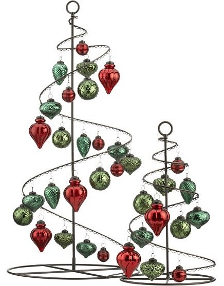 bronze swirl 36 ornament tree in christmas decorating