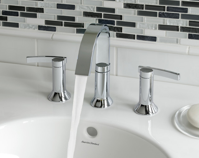 ... Widespread Bathroom Faucet w Lever Handle modern-bathroom-faucets