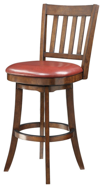 Office Star Mission Bar Stool In Crimson Red Eco Leather contemporary-bar-stools-and-counter-stools