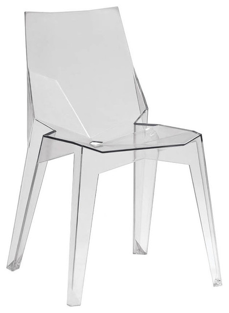 Solo Clear Plastic Chair Set Of 4 Modern Dining Chairs By Ba Furniture Stores