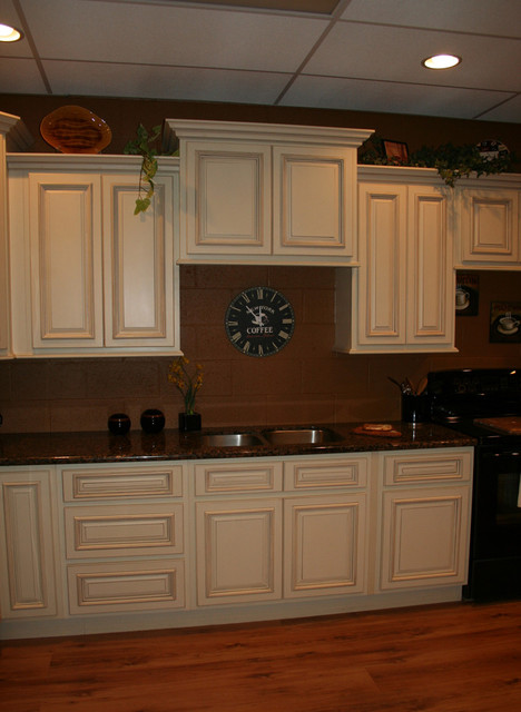 Cream Kitchen Cabinets With Black Appliances Home