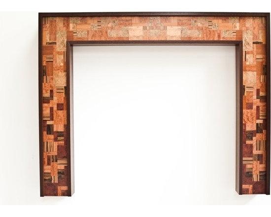 "Ebony Fireplace Mantel ""Mosaic"" design series -"