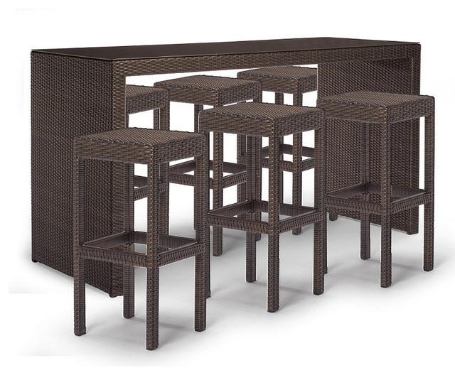 Palermo 7-pc Bar Set - Frontgate, Patio Furniture traditional-patio-furniture-and-outdoor-furniture