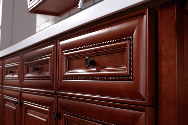 Mocha Rope Cabinets - Traditional - Kitchen Cabinetry ...