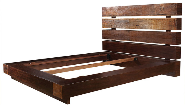 Iggy King Platform Bed Frame - Rustic - Platform Beds - new york - by ...