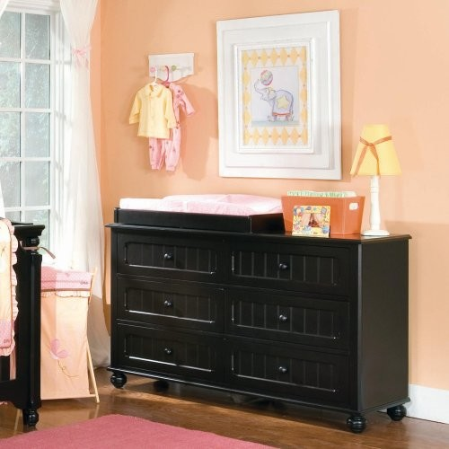 Lea Industries My Style 6 Drawer Dresser With Optional Changer Top Black Contemporary