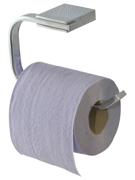 Zinc Alloy Wall Mounted Toilet Tissue Roll Dispenser Stainless Steel Chrome - This wall mounted toilet tissue roll dispenser is in zinc alloy and in stainless steel. An attractive way to dispense toilet tissue and to add elegant design to your toilet! To be easily fixed to the wall or tile wall, the mounting hardware is included and invisible when fixed. Wipe clean. Color chrome. Length 6.29-Inch, depth 2.16-Inch and height 4.13-Inch. This toilet tissue roll dispenser features a modern design style and helps you to add richness to the bathroom! Complete your decoration with other products of the same collection. Imported.
