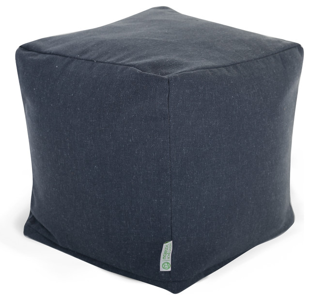 Indoor Navy Wales Small Cube modern-floor-pillows-and-poufs