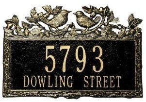 Whitehall Woodland Wren Address Plaque traditional-house-numbers