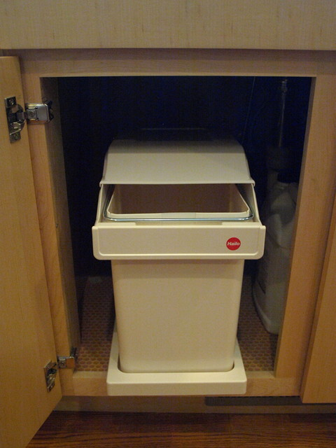 Hafele Covered Garbage Pullout modern-kitchen