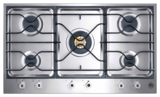 "Bertazzoni 36"" Design Series Segmented Cooktop, Stainless Steel 
