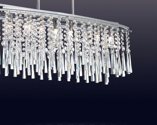 Crystal Chandelier and Lighting - This beautiful and elegant chandelier will compliment any home.  It is available for sale on our website!