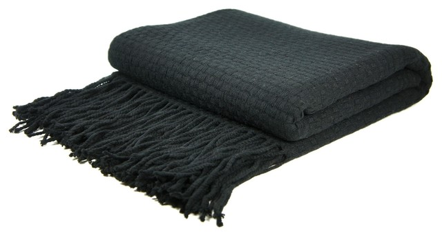 Signature Blend Throw Black 50