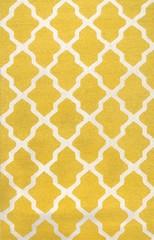 Rugsville Moroccan Trellis 10596 Yellow Ivory Wool Rug
