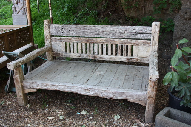 Reclaimed Teak Wood Bench from Bali eclectic-indoor-benches