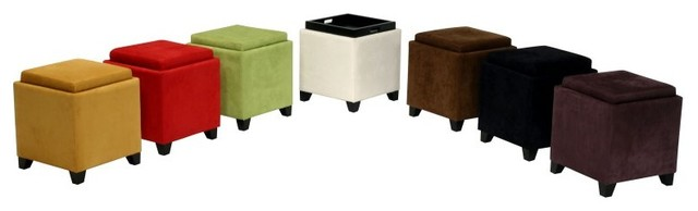Armen Living Storage Ottoman Multicolor - LC530OTMFBR contemporary-footstools-and-ottomans