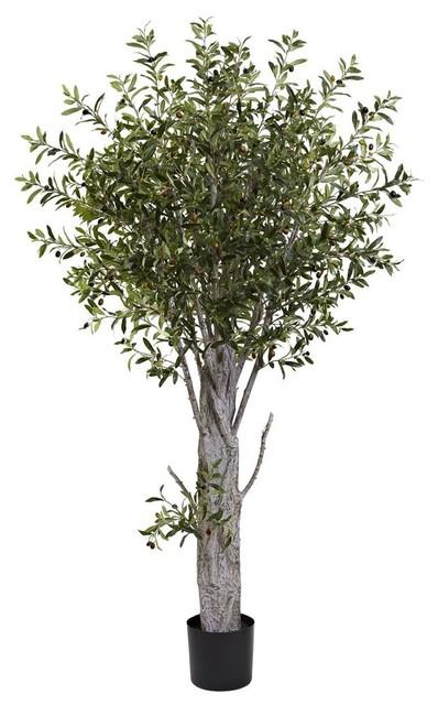 decorative olive tree contemporary artificial plants