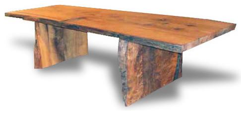 Custom Made Wood Barn Table contemporary-dining-tables