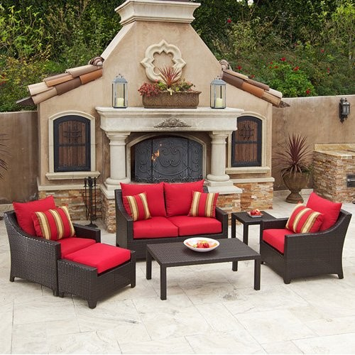 Rst Cantina 6 Piece Deep Seating Loveseat Set Contemporary Patio Furniture And Outdoor Furniture
