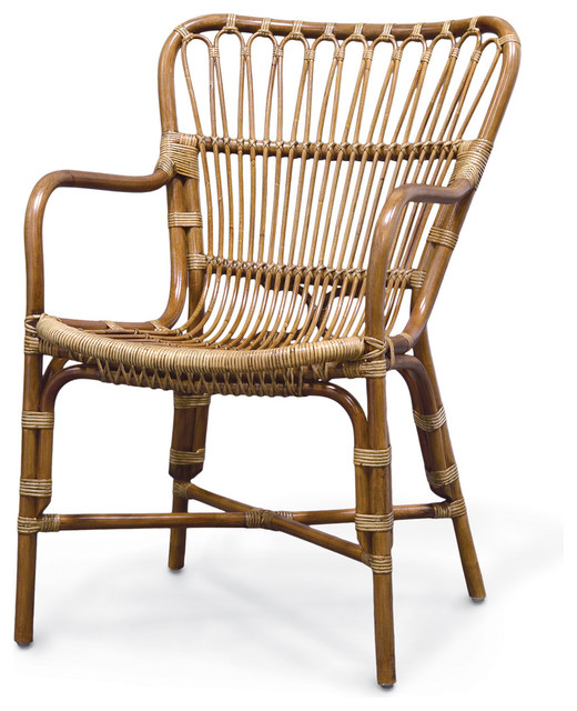 Retro Rattan Dining Armchair - Tropical - Dining Chairs - by Masins ...