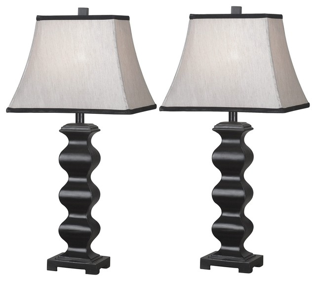 Set Of  Steppe Black Table Lamps Contemporary Table Lamps