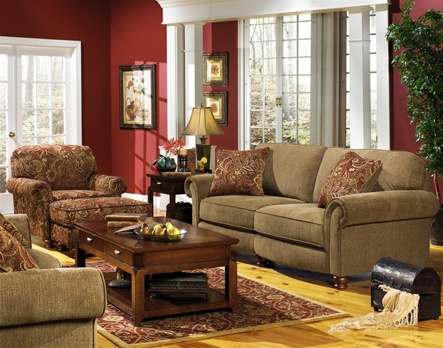 Jackson furniture bradley 2 piece sofa set in havanna for Traditional living room sets
