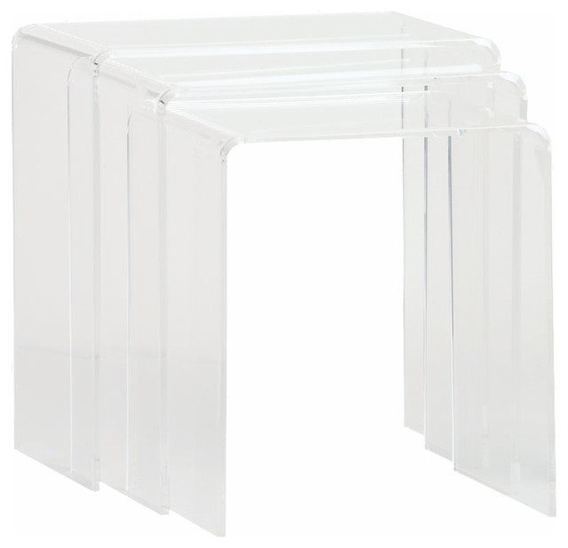 Peekaboo Clear Nesting Tables contemporary-side-tables-and-end-tables