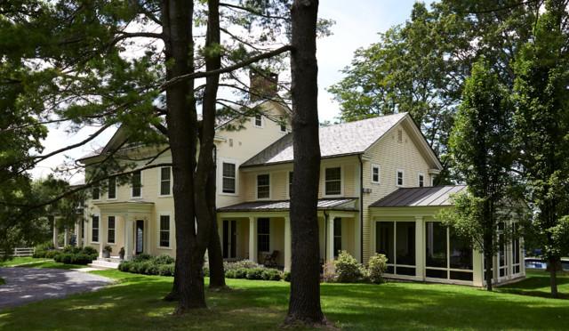 Greek Revival Farmhouse Exterior burlington by Connor Homes