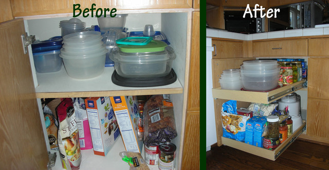 Blind Corner Cabinet - Cabinet And Drawer Organizers - los angeles - by ShelfGenie of Los Angeles
