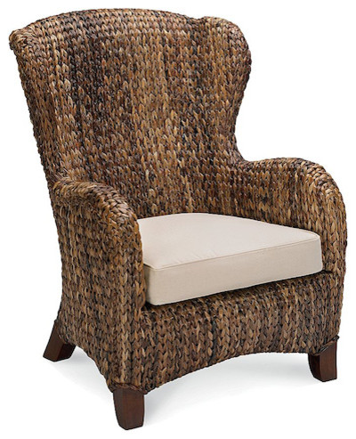 Seagrass Wingback Armchair Traditional Outdoor Lounge