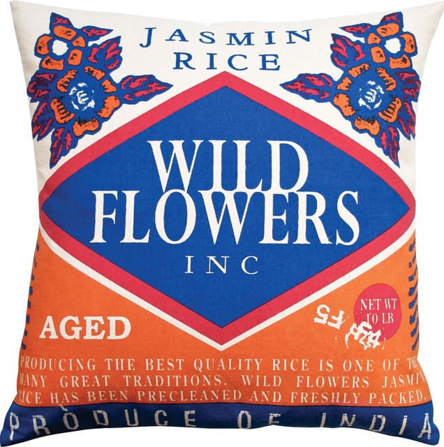 Koko - Wild Flowers Rice Pillow modern-decorative-pillows
