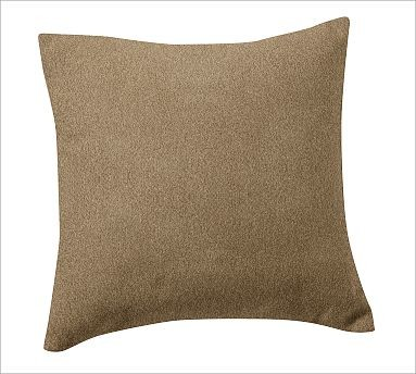 "Custom Fabric 18"" Pillow Cover, Knife-Edge, everydaysuede(TM) Light Wheat traditional-decorative-pillows"