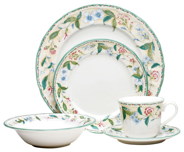 Floral Bay 20pce Dinner Set Traditional Dinnerware
