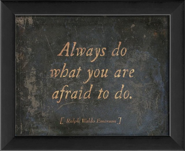 Always do what you are afraid to do Framed Artwork contemporary-prints-and-posters