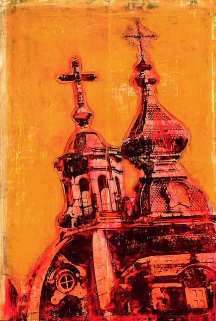 """Euro Church"" Artwork contemporary-paintings"