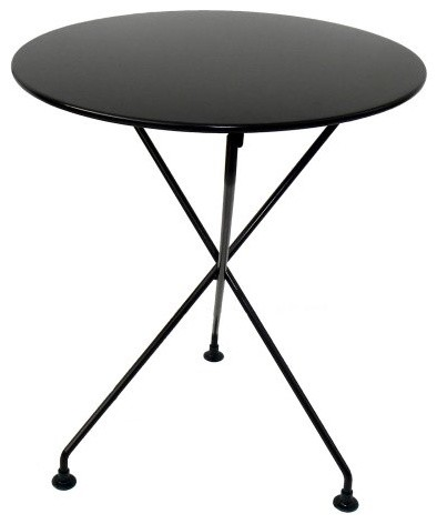 Furniture Designhouse European Cafe 3-Leg Folding Bistro Table traditional-outdoor-dining-tables