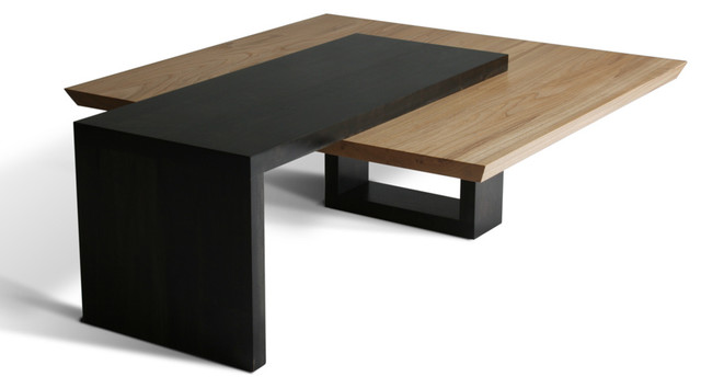 Wormy Maple Coffee Table Contemporary Tables