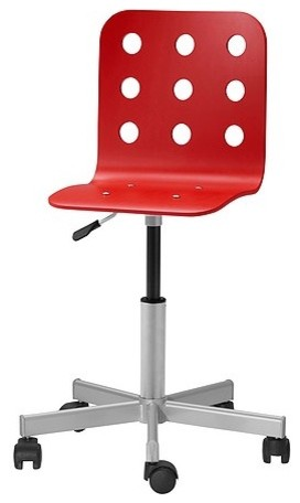 Jules Junior Desk Chair Red Scandinavian Children s