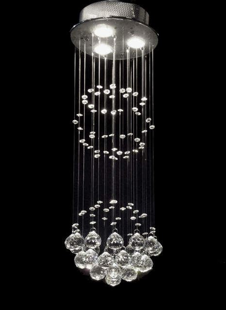 Raindrop Crystal Chandelier contemporary-chandeliers