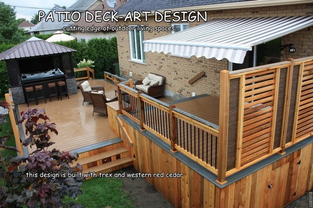 patio deck art designs trex traditional porch montreal by - Deck And Patio Design Ideas