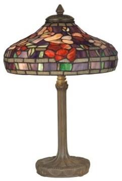 Dale Tiffany Peony Tiffany Replica Purple Table Lamp modern-table-lamps