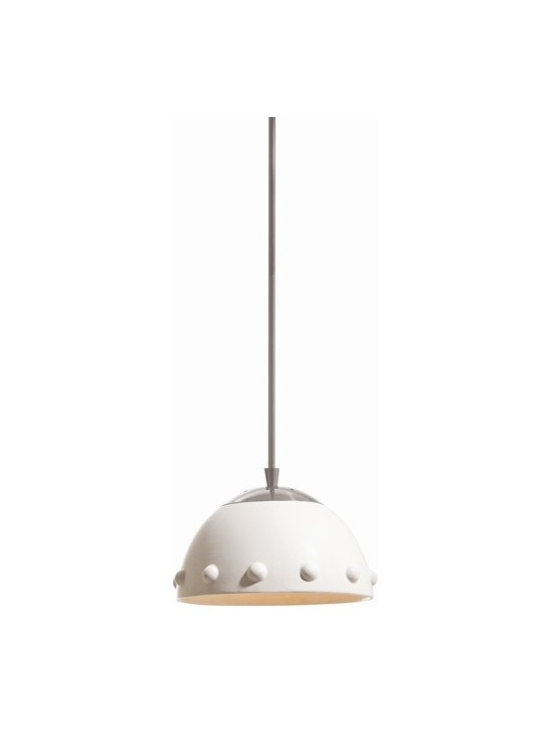 Arteriors Dots Large Ceramic/Brushed Nickel Pendant - Dots Large Ceramic/Brushed Nickel Pendant