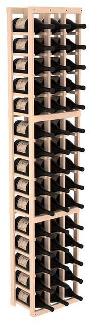 3 Column Magnum/Champagne Wine Kit in Pine, (Unstained) Pine contemporary-wine-racks