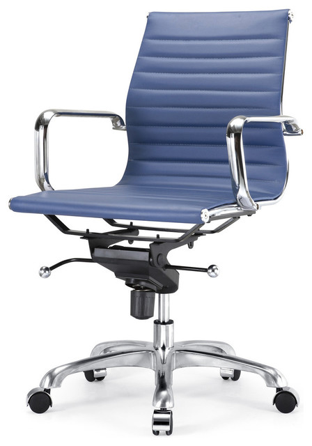M344 office chair in blue modern task chairs